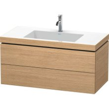 Furniture Washbasin C-bonded With Vanity Wall-mounted, European Oak (decor)