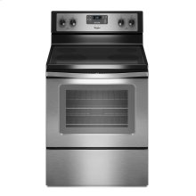 CLEARANCE 4.8 cu. ft. Capacity Electric Range with Self-Cleaning System (This is a Stock Photo, actual unit (s) appearance may contain cosmetic blemishes. Please call store if you would like actual pictures). This unit carries our 6 month warranty, MANUFACTURER WARRANTY and REBATE NOT VALID with this item. ISI 34543
