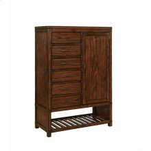 Artesia Dark Cocoa Six-drawer Chest With Door and Shoe Rack