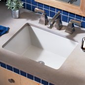 Boulevard Undercounter Bathroom Sink - White