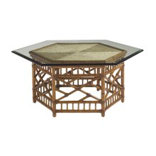 Key Largo Cocktail Table With Glass Top