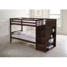 3000 Mission Hills Twin/Twin Staircase Bunk Bed Chestnut