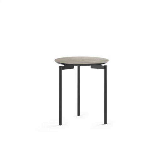 1736 Round End Table BDI in Concreta