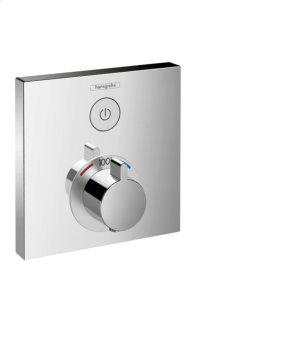 Chrome Thermostatic Trim for 1 Function, Square Product Image