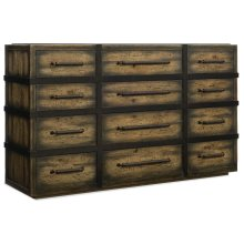 Bedroom Crafted Twelve-Drawer Dresser