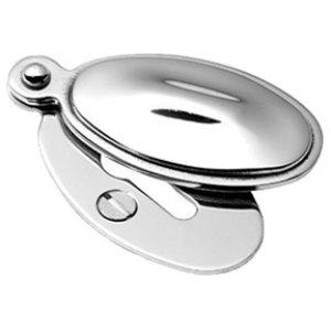 Chrome Plate Raised oval covered escutcheon
