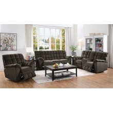 Atmore Casual Chocolate Motion Loveseat