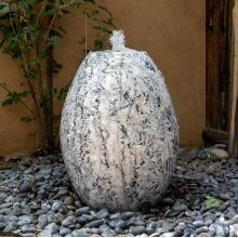 Bamboo Marble Fountain, Bulb Shape
