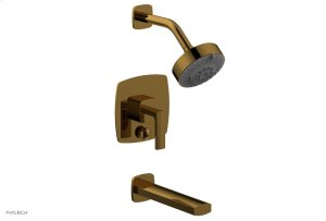 RADI Pressure Balance Tub and Shower Set - Lever Handle 181-27 - French Brass Product Image