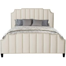 Queen-Sized Bayonne Upholstered Bed in Espresso