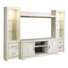 Bellaby - Whitewash 4 Piece Entertainment Set