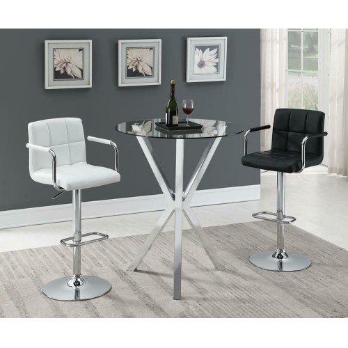 Contemporary Chrome Bar-height Table