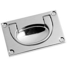 "Antique Brass Unlacquered Flush handle, 3 1/2"" x 2"""