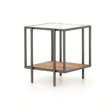 Finn Outdoor End Table-gunmetal