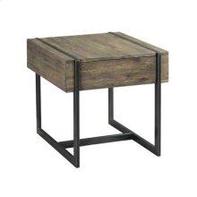 Modern Timber Rectangular Drawer End Table