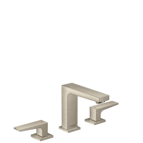 Brushed Nickel Widespread Faucet 110 with Lever Handles, 1.2 GPM