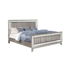 Leighton Contemporary Metallic Full Bed