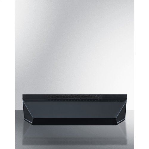 36 Inch Wide ADA Compliant Ductless Range Hood In Black Finish With Remote Wall Switch