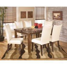 Lacey - Medium Brown 7 Piece Dining Room Set