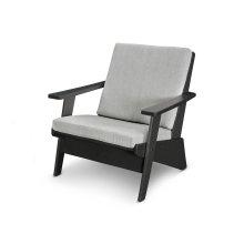 Black & Canvas Granite Riviera Modern Lounge Chair