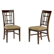 Montego Bay Dining Chairs Set of 2 with Cappuccino Cushion in Walnut