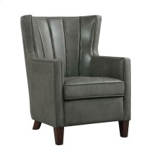 Upholstered Dark Grey Wing Back Accent Chair