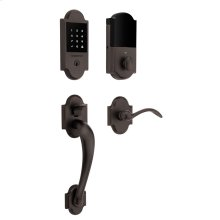 Venetian Bronze Boulder Touchscreen Keyless Entry Handleset