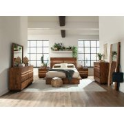 Rustic Smoky Walnut Eastern King Storage Bed Product Image