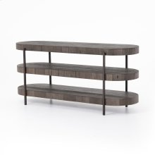 Distressed Grey Finish Tinsley Media Console