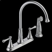 Arctic Stainless Two Handle Kitchen Faucet with Spray