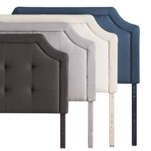 Scooped Square Tufted Upholstered Headboard Twin Atlantic