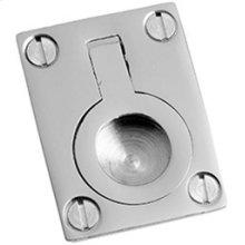 "Antique Brass Unlacquered Flush ring, 1 1/2"" x 2"""