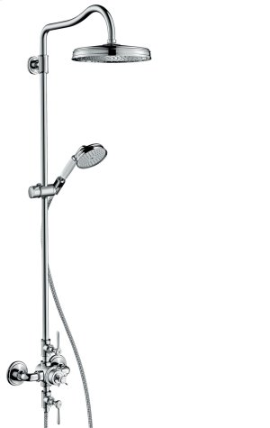 Chrome Showerpipe with thermostat and overhead shower 240 1jet Product Image