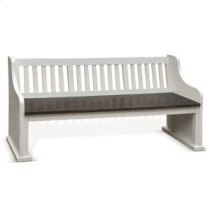 Carriage House Bench w/ Back Wood Seat Product Image