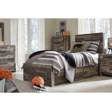 Derekson - Multi Gray 5 Piece Bed Set (Twin)