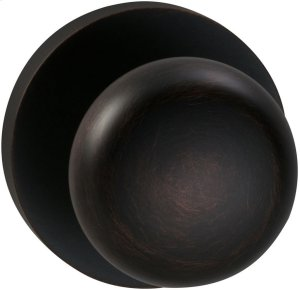 Interior Traditional Knob Latchset with Modern Round Rose in (TB Tuscan Bronze, Lacquered) Product Image
