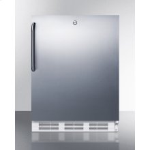 Freestanding ADA Compliant Refrigerator-freezer for General Purpose Use, W/dual Evaporator Cooling, Cycle Defrost, Lock, Ss Door, Tb Handle, and White Cabinet