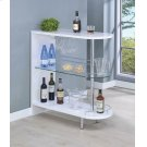 Contemporary Glossy White Bar Table Product Image