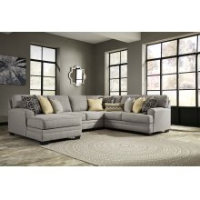Cresson - Pewter Left Chaise, Armless Loveseat, Right Loveseat, Wedge