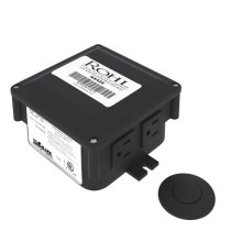 Matte Black Air Activated Switch Button With Control Box For Waste Disposal