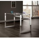Contemporary Chrome and Glass Top Writing Desk Product Image