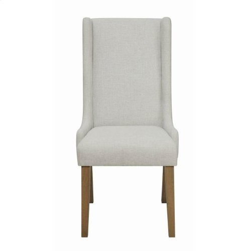 Solomon Beige and Brown Dining Chair