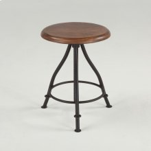 Industrial Loft Stool with Walnut Top