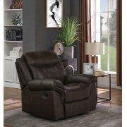 Sawyer Transitional Brown Glider Recliner Product Image