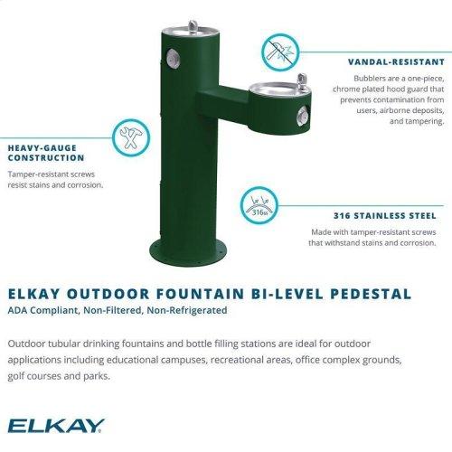 Elkay Outdoor Fountain Bi-Level Pedestal Non-Filtered, Non-Refrigerated Beige