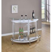 Glass and Chrome Bar Unit Product Image