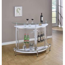Glass and Chrome Bar Unit
