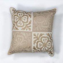 "L131 Beige Damask Pillow 18"" X 18"""