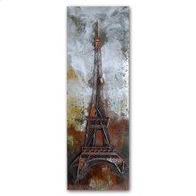 Eiffel in Metal 24x71 Metal Wall Art