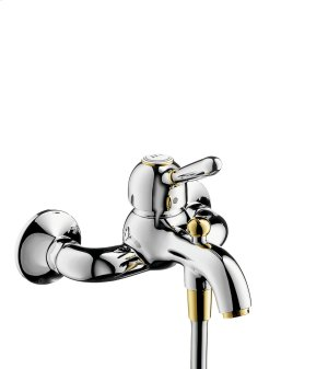 Brushed Gold Optic Single lever bath mixer for exposed installation Product Image